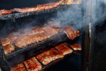 Nashville BBQ smoking ribs