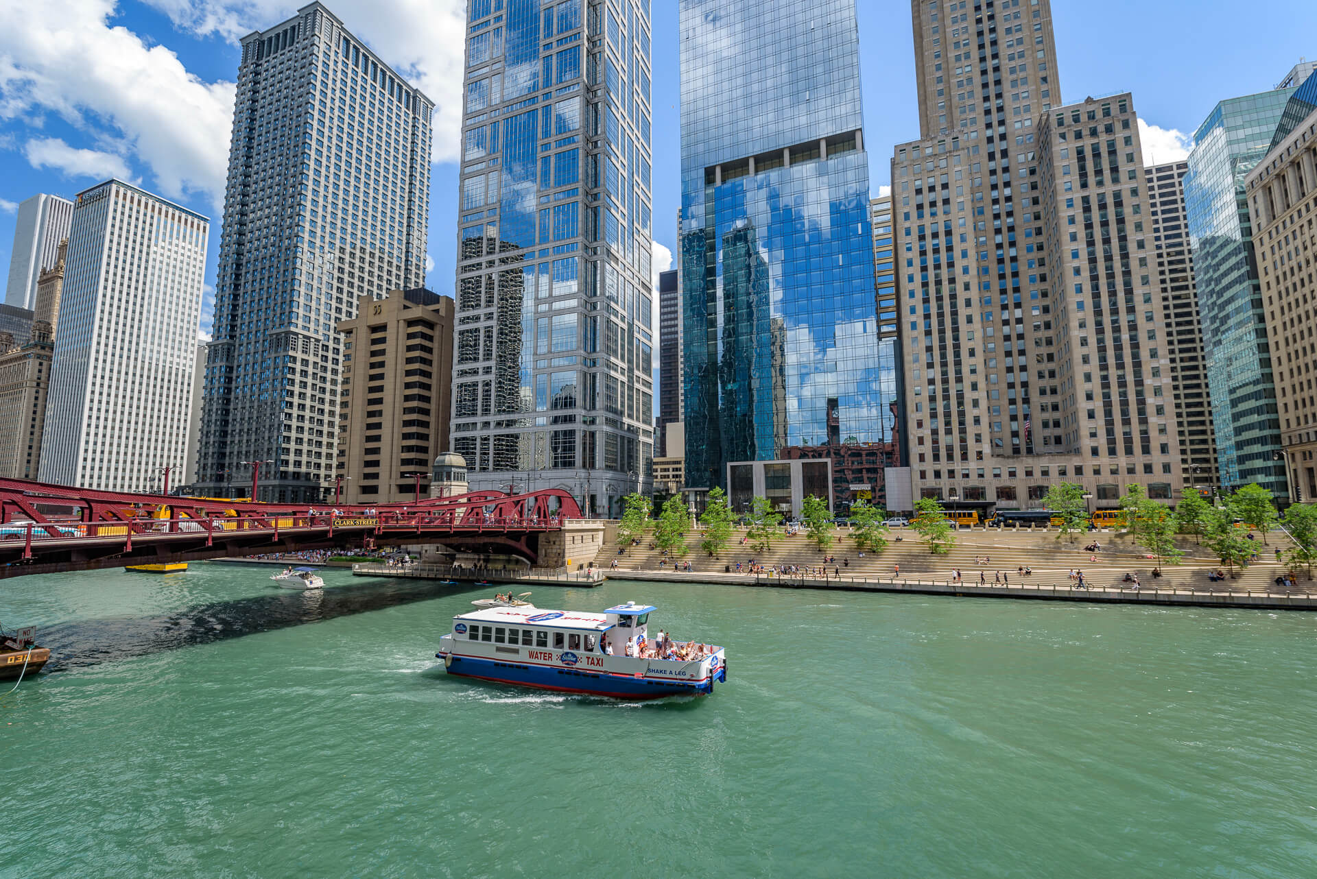Chicago River and buildings