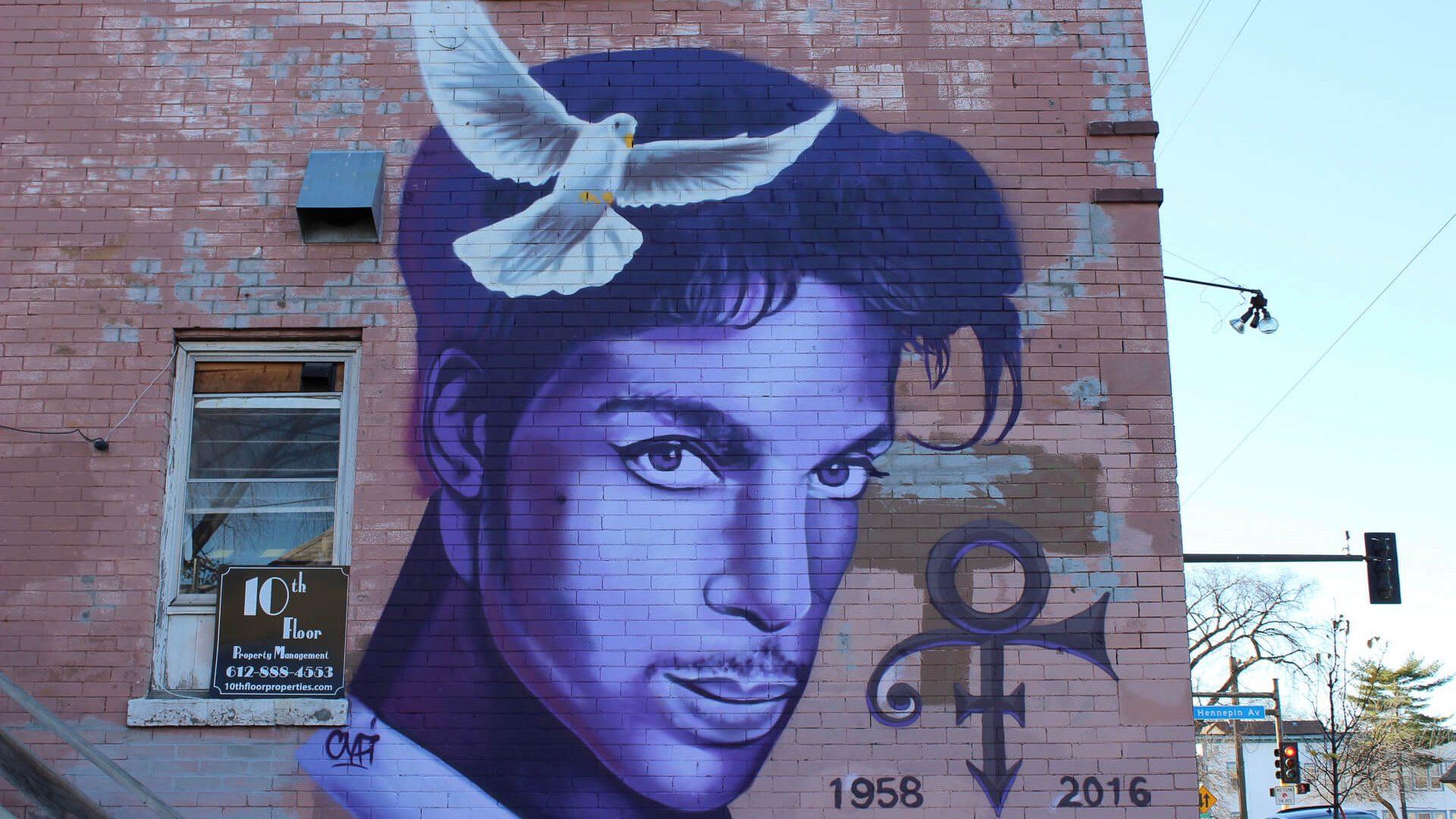 Prince Mural Uptown Minneapolis