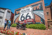 Route 66 mural in Pontiac Illinois