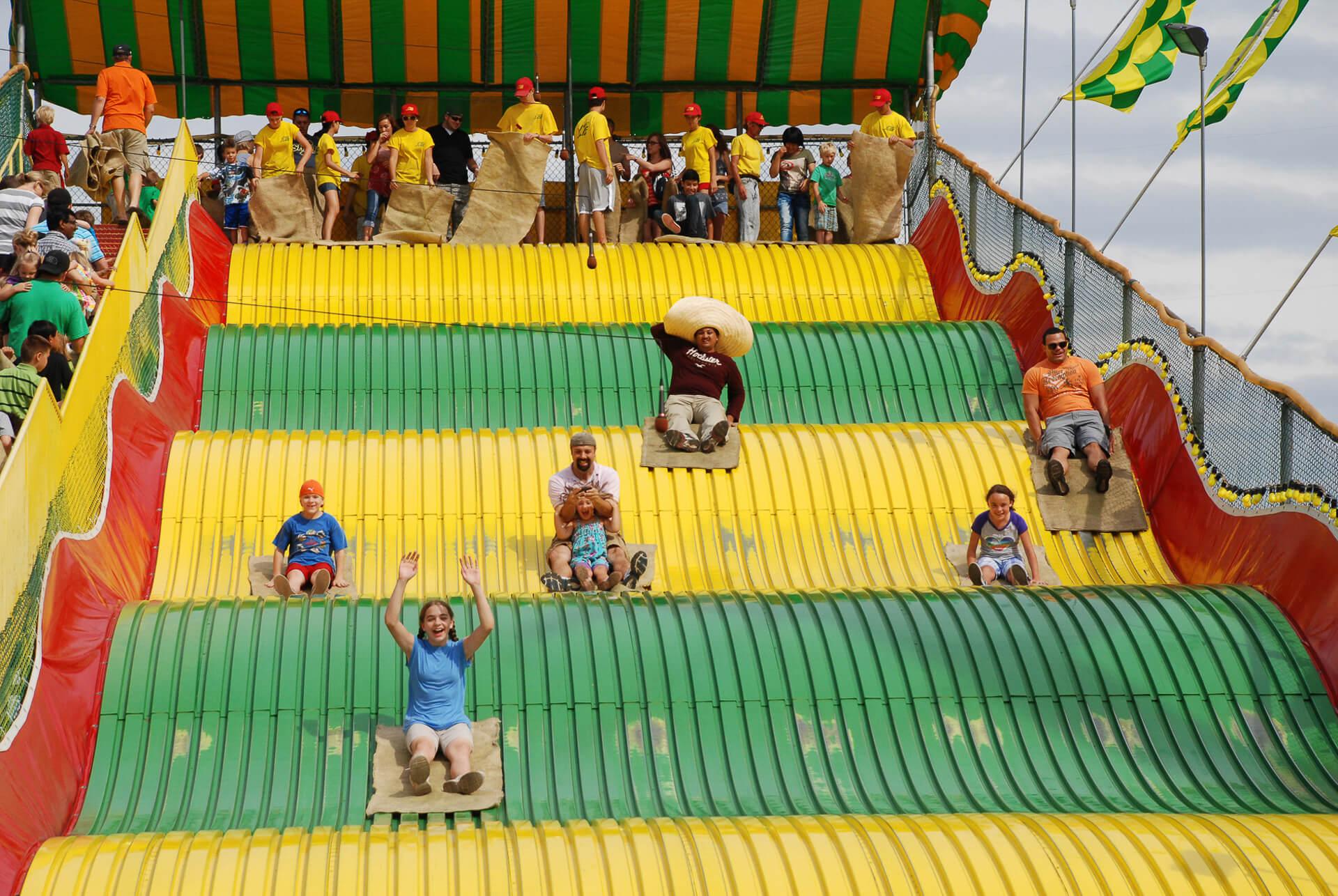 Giant slide at the Minnesota State Fair