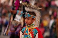 Boy at Indian Summer Festival Pow-wow