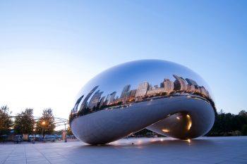 The Bean sculpture in Millenium Park