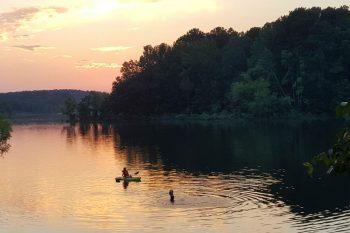 DeGray Lake at sunset