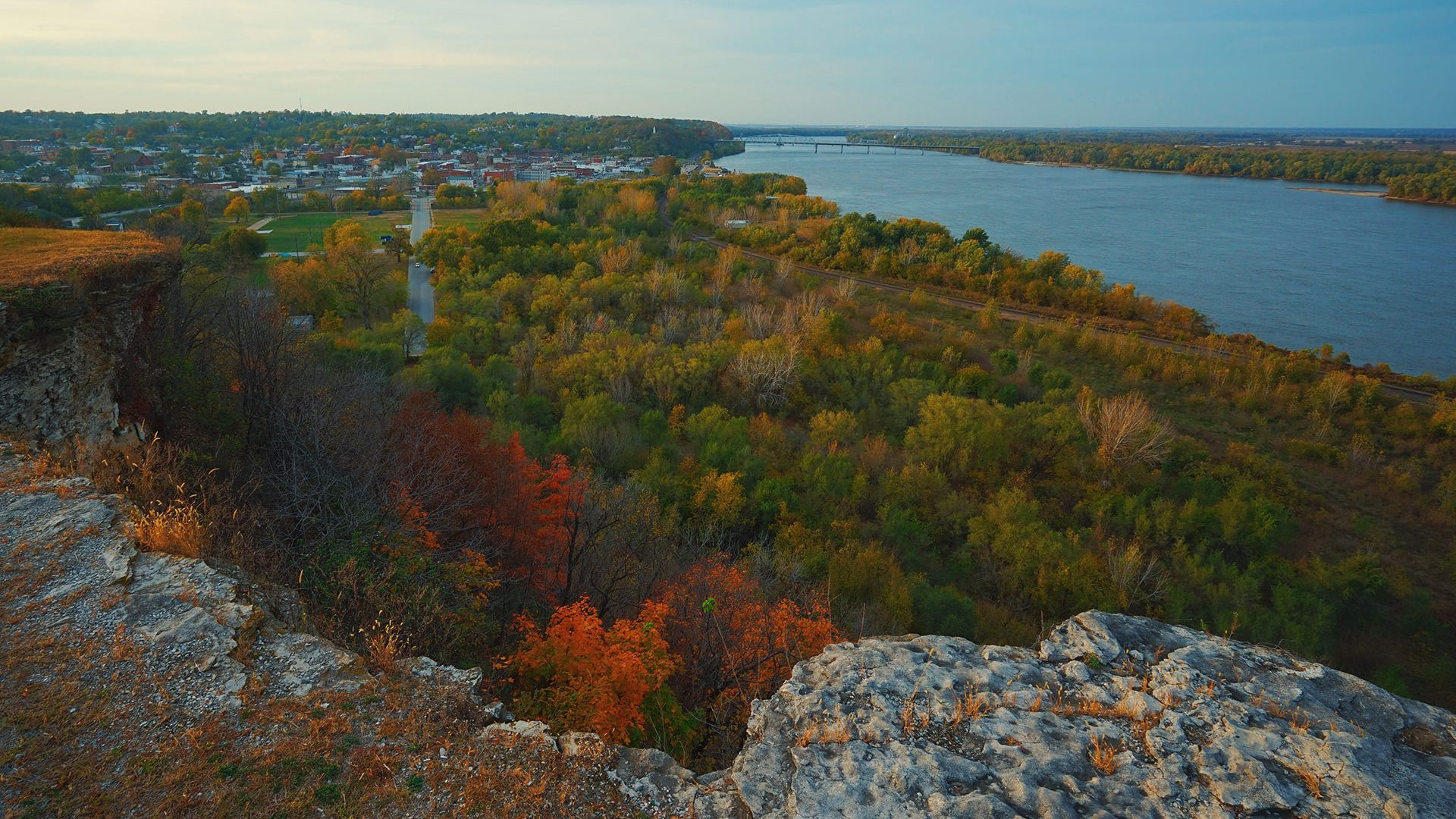Lovers Leap in Hannibal, Missouri