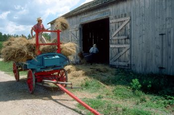 Haywagon at Old World Wisconsin