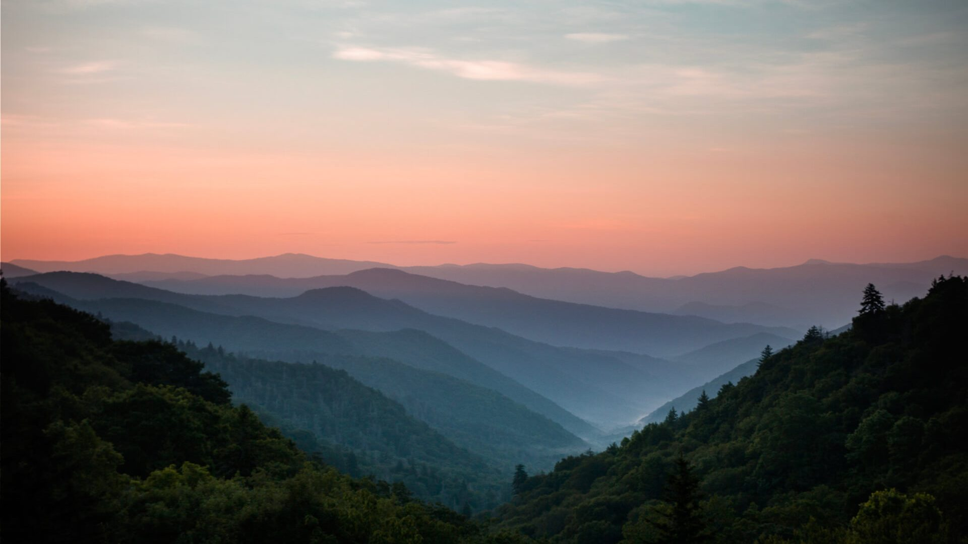 Great Smoky Mountain National Park Sunset