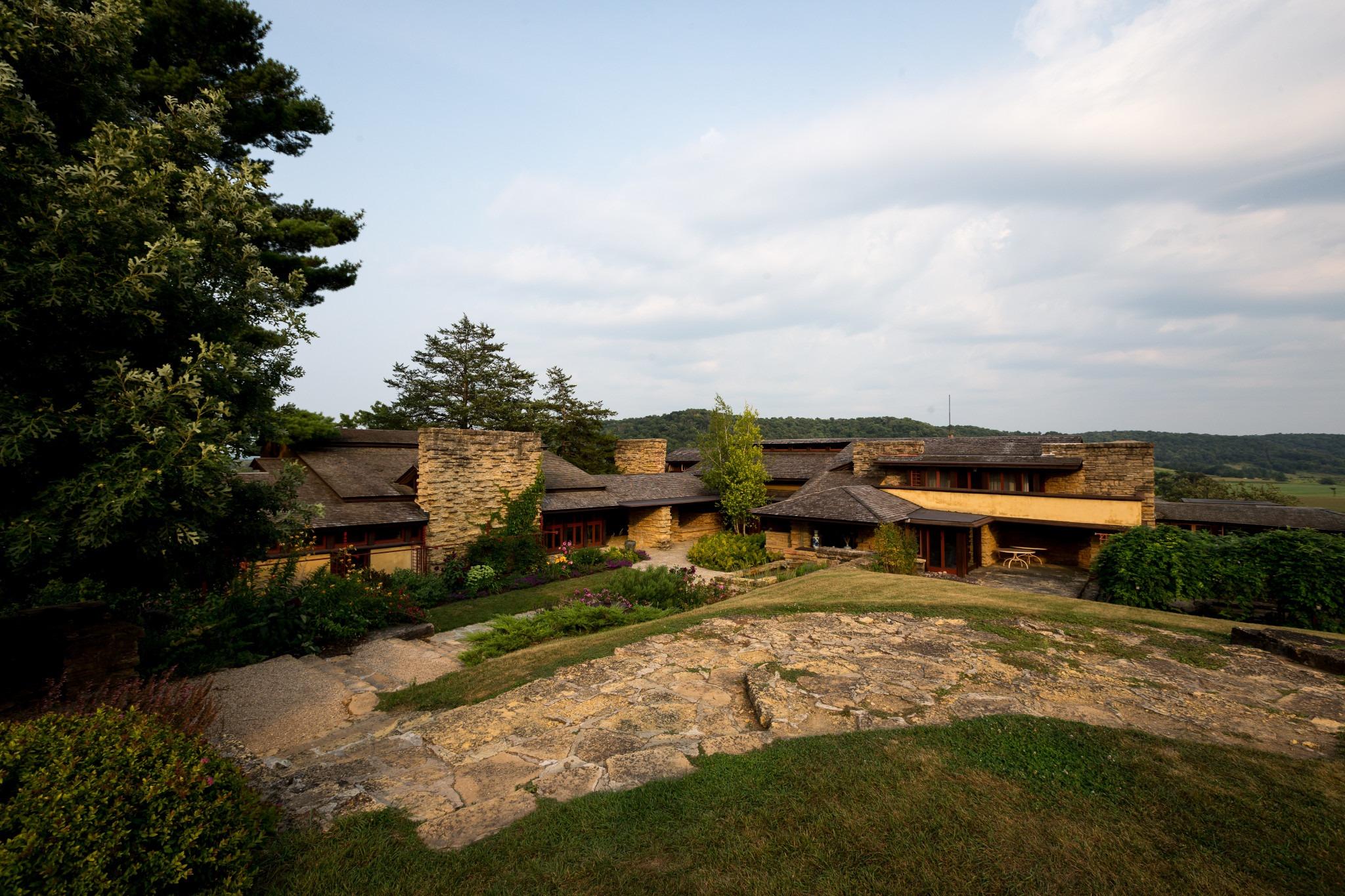 Frank Lloyd Wright's Taliesin in Spring Green Wisconsin