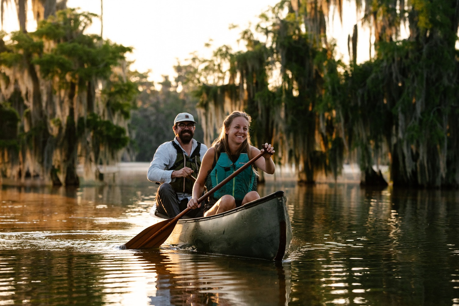 Canoeing in Lake Martin Louisiana